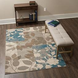 "Home Dynamix Tremont Hillsboro Area Rug 5'3"" x7'2, Floral Be"