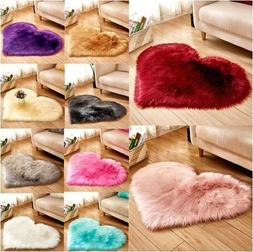 Heart Fluffy Rugs Anti-Skid Shaggy Area Rug Dining Carpet Be