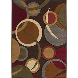 "Art of Knot Hestra Area Rug, 5'3"" x 7'3"" Brown/Green"