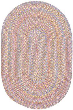 Super Area Rugs Hipster Braided Kids Rug Washable Soft Pink