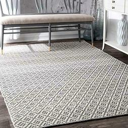 nuLOOM HMCO5E-8010 Cottage Collection Hand Made Area Rug, 8'
