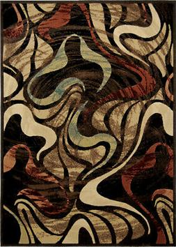 Home Dynamix Multi-Color Contemporary Swirls Lines Area Rug