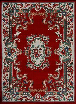 "Home Dynamix Premium 7083-202 Red Area Rug - 7' 9"" x 10' 8"""