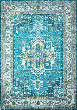 Home Dynamix Splash 2132-327 Blue Ivory Area Rug