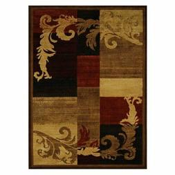 Home Dynamix HD1258 Catalina Area Rug - Brown-Red, Red