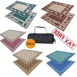 Indoor Outdoor Patio Mat RV Large Reversible Camping Picnic