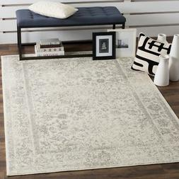 Ivory / Silver Safavieh Power-Loomed Area Rugs - ADR109C