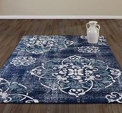 Diagona Designs JAS2065-8X10 Rug, 7'10 x 9'10, Navy-2065