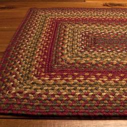 Homespice Decor Jute Braided Area Rug Cider Barn Red Green T