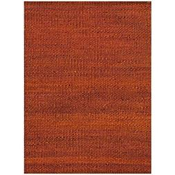 Acura Rugs Natural Jute Collection Area Rug, Hand Woven Gold