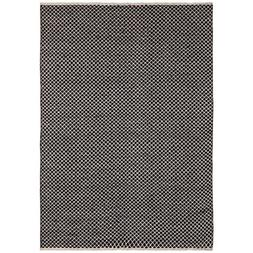 Earth First Jute Squares Flat Weave Rug, 4-Feet by 6-Feet
