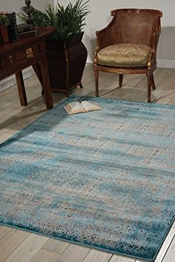Nourison Karma  Blu Rectangle Area Rug, 3-Feet 9-Inches by 5