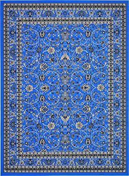 Unique Loom Kashan Collection Traditional Floral Dark Blue H