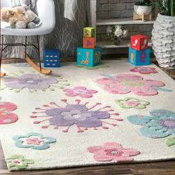nuLOOM Kids Contemporary Country & Floral Handmade Louella F