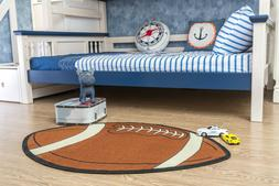 Kids Sports Football Small Shape Area Rug - 715