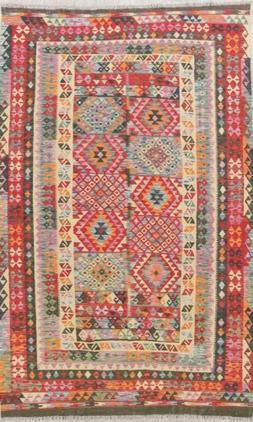 Kilim Oriental Wool Handmade Geometric Turkish Modern Area R