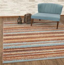 Luxe Weavers Kingsbury Collection Abstract Brick Multi Color