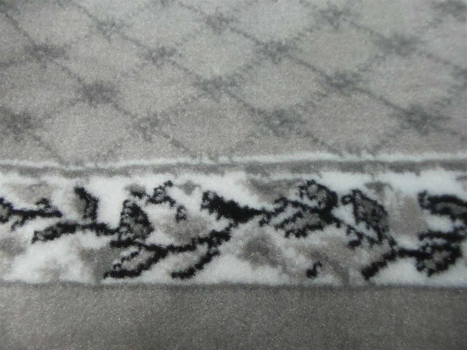 Home 21 35 in. Sheraton Area Rug Gray & Ivory