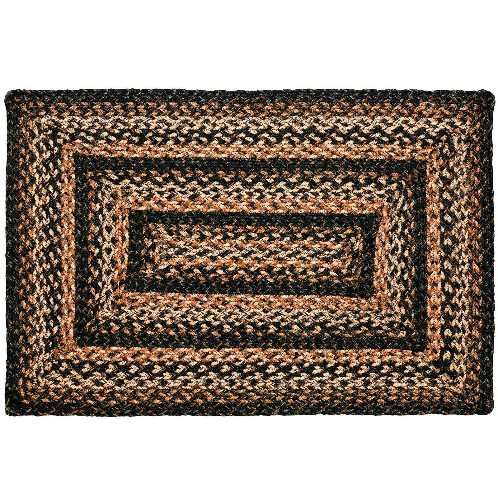 "IHF Home Decor 22"" x 72"" Black Forest Rectangle Jute Braided"