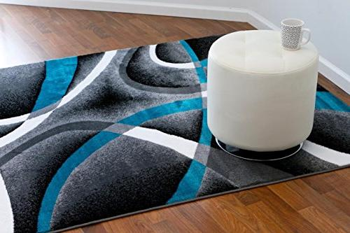 Persian Rugs 2305 7'10 Modern Abstract Area