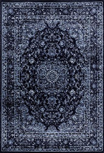 3212 distressed navy area rug