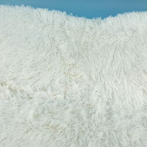 """ACTCUT 4.5cm Thick Carpet Indoor White Shaggy Soft x 63"""""""