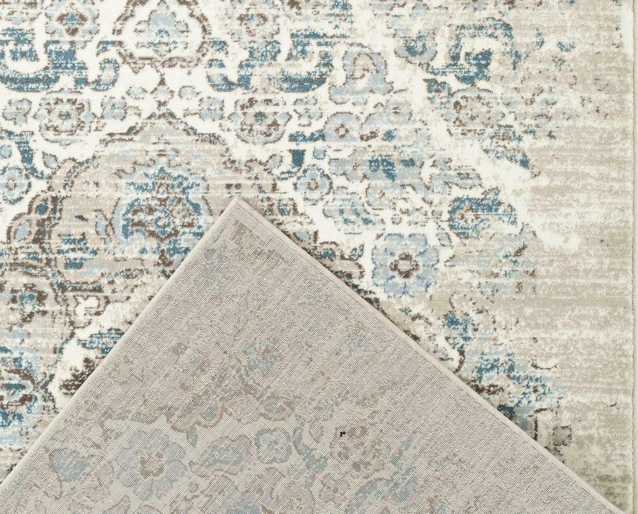 4620 Cream Traditional Large Rug Distressed