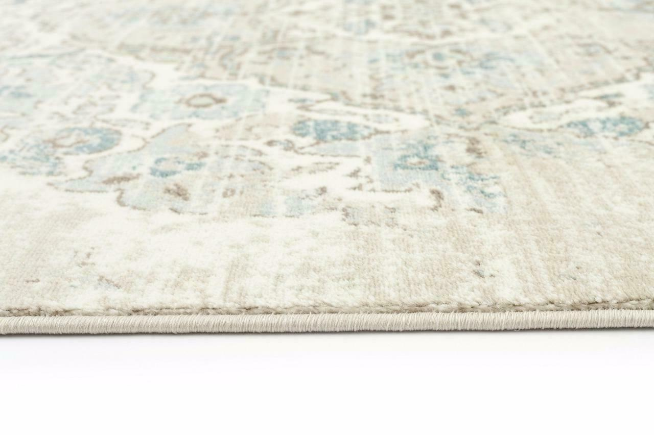 4620 Cream Oriental Traditional Large Area Carpet Distressed