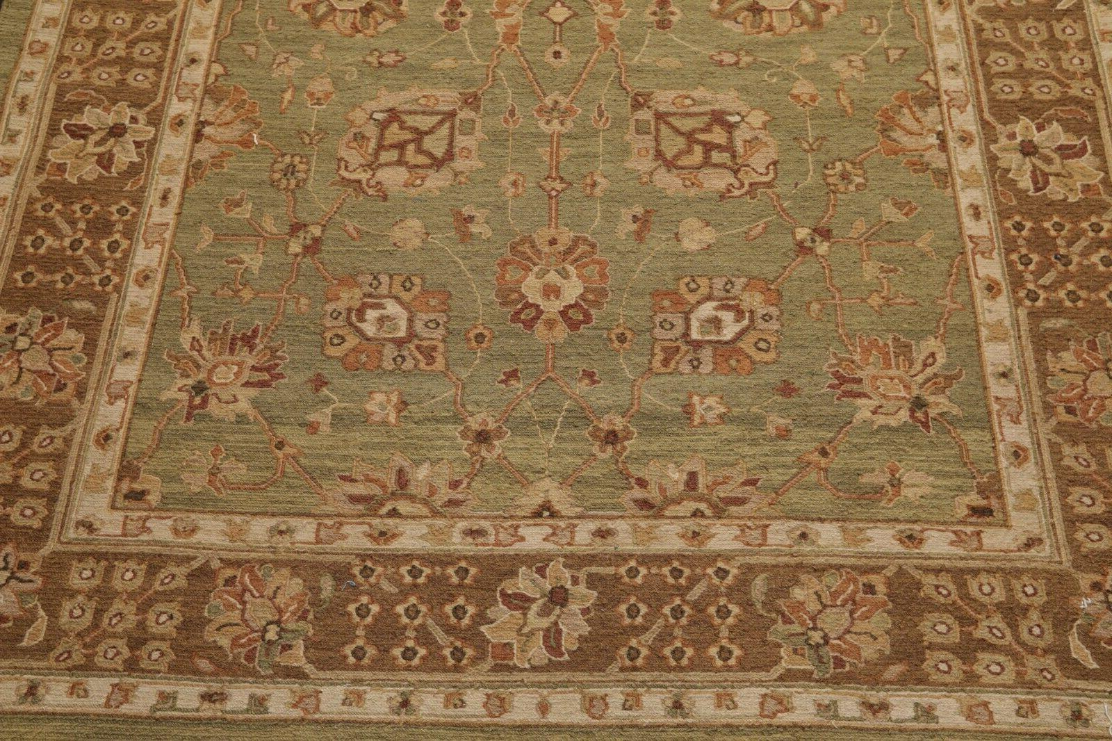 "5'6"" x Nourmak Hand Knotted Wool Area Sage"