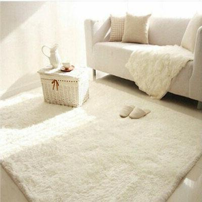 67x47' Rugs Shaggy Rug Room Bedroom Floor White