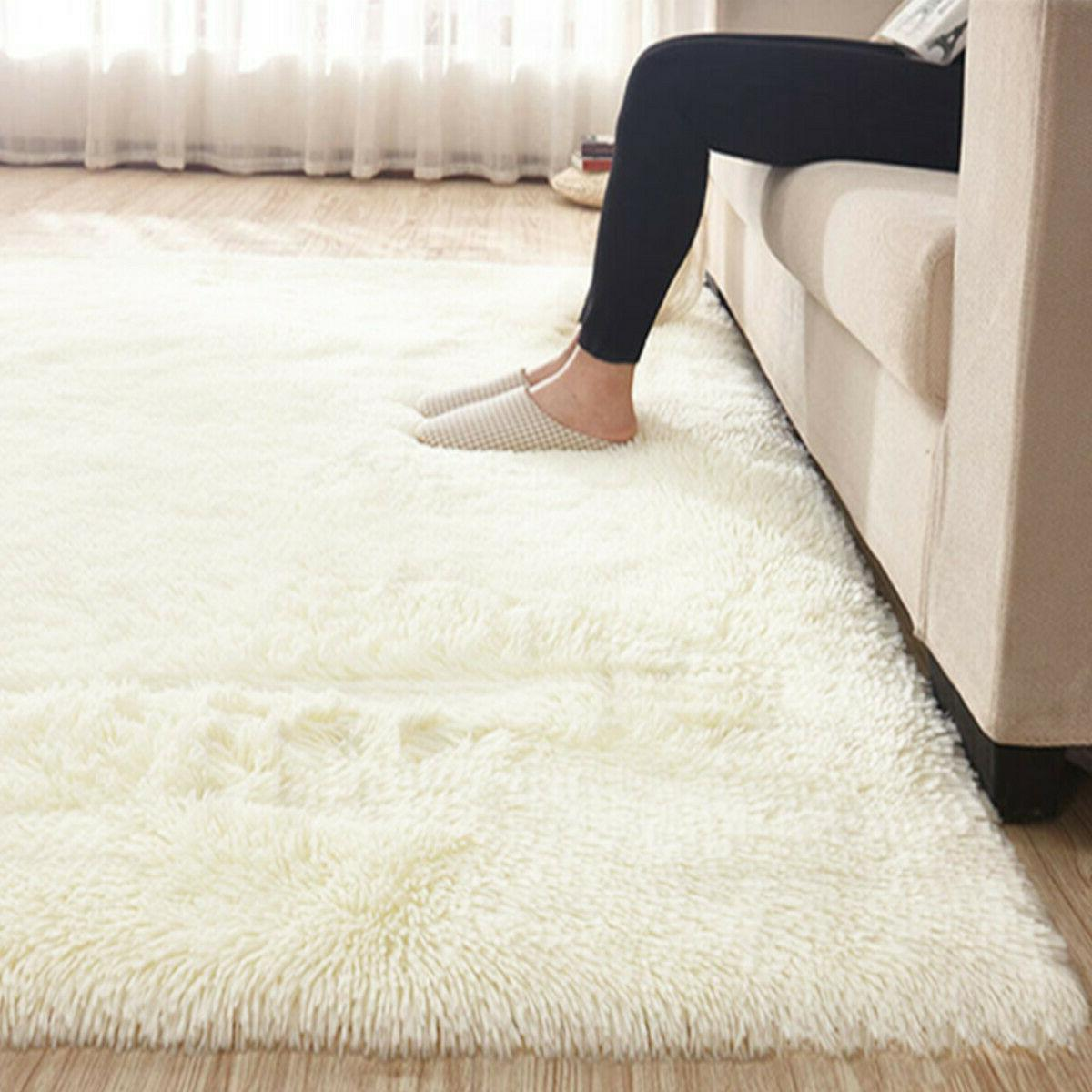 67x47 fluffy rugs anti skid shaggy area