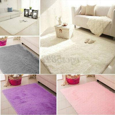 67x47in Fluffy Rugs Shaggy Rug Home Carpet Floor Kids Playmat