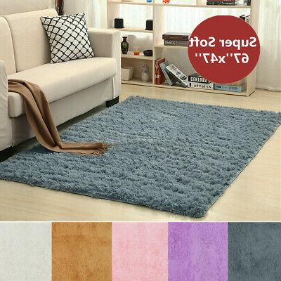 67x47in Fluffy Rugs Shaggy Area Rug Carpet Mat Playmat