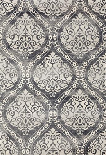 Rugshop 702Gray5 'x Transitional Floral Rug, x Gray