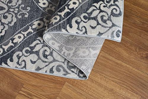 Rugshop 702Gray5 'x Transitional Rug, 7',