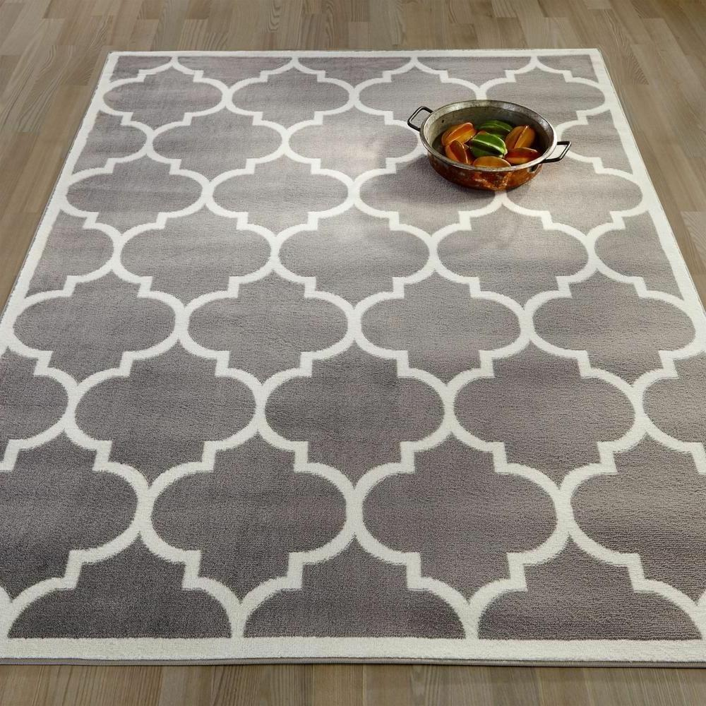 8' x 10' Large Modern Indoor Outdoor Area Rug Low Profile Po