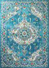 8x10  Traditional Oriental Transitional Floral Blue Area Rug