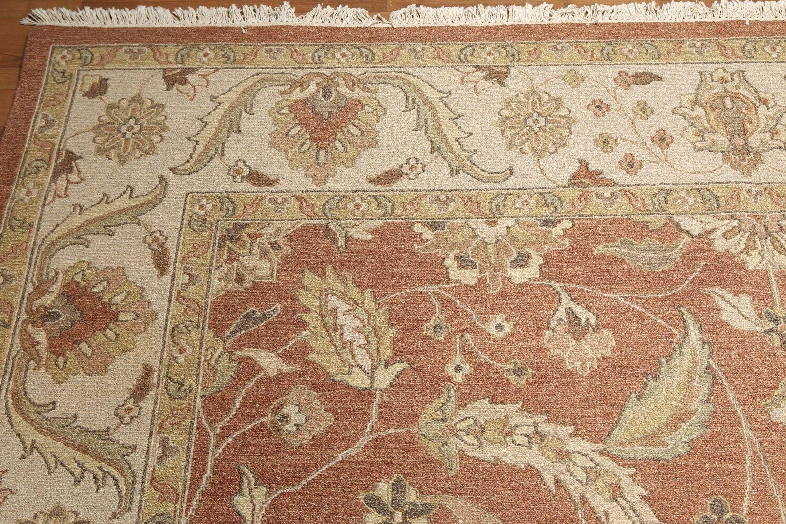 "9'1"" x Nourmak 100% Wool Area Rug Rust"