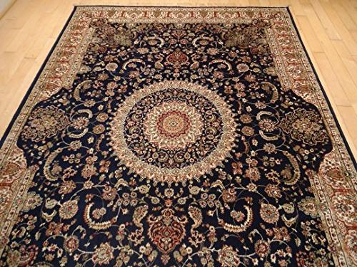 Luxury Silk Persian Area Rugs Navy Living Room Rugs 8x12 Are