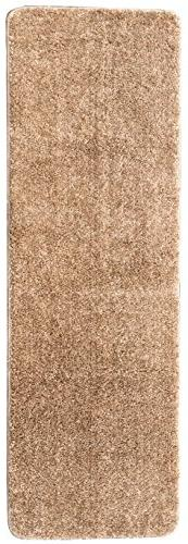 Ottomanson Luxury Collection Camel Solid Runner Rug with Bat