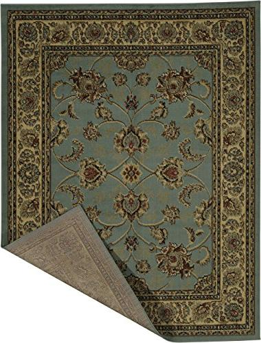 "Ottomanson Royal Collection Oriental Floral Rug, 7'10"" X Sage Green"