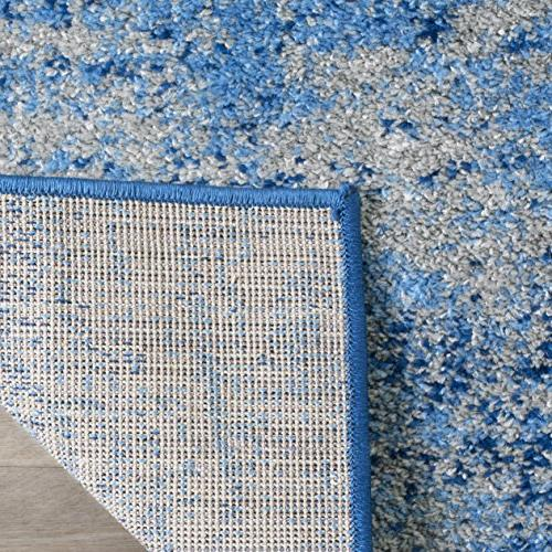 Safavieh Collection Silver Blue Modern Abstract Area Rug
