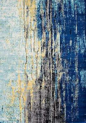 nuLOOM Abstract Area Rug Blue, Yellow