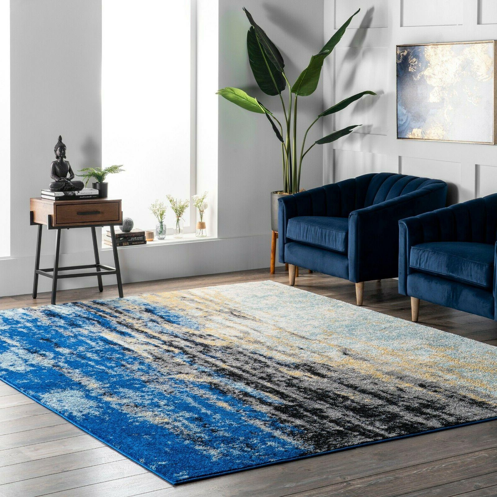 abstract contemporary modern area rug multi in