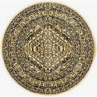 Safavieh Adirondack Gold and Black Oriental Vintage Round Ar