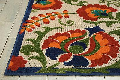 Nourison Aloha ALH17 Multicolor Indoor/Outdoor Area Rug