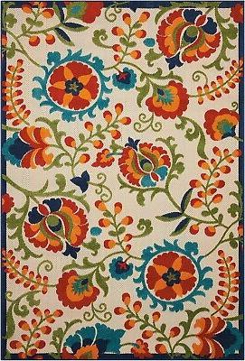 aloha alh17 multicolor indoor outdoor area rug