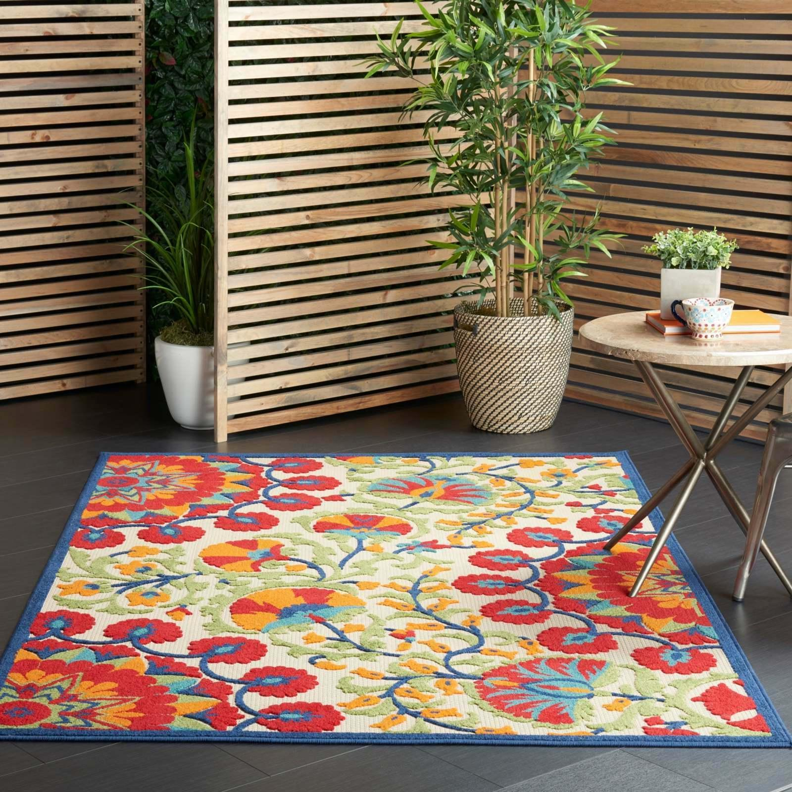aloha indoor outdoor botanical rug indoor