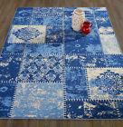 Diagona Designs Anne Patchwork Blue/cream Area Rug