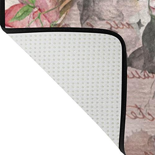 ALAZA Butterfly Polyester Floor Mat Carpet for Room